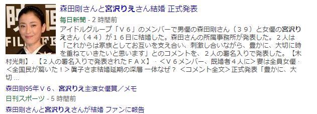 宮沢りえ V6森田剛